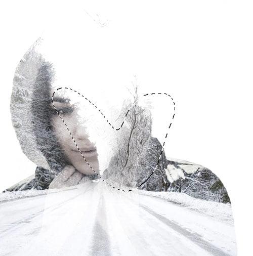 10 1 - آموزش ساخت افکت Double Exposureدر فوتوشاپ(زمینه ی زمستانی)