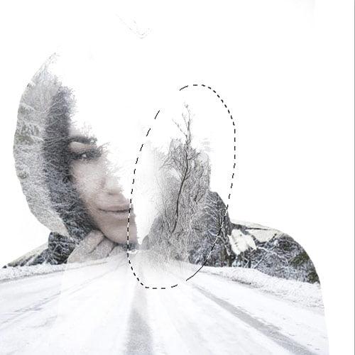 9 1 - آموزش ساخت افکت Double Exposureدر فوتوشاپ(زمینه ی زمستانی)