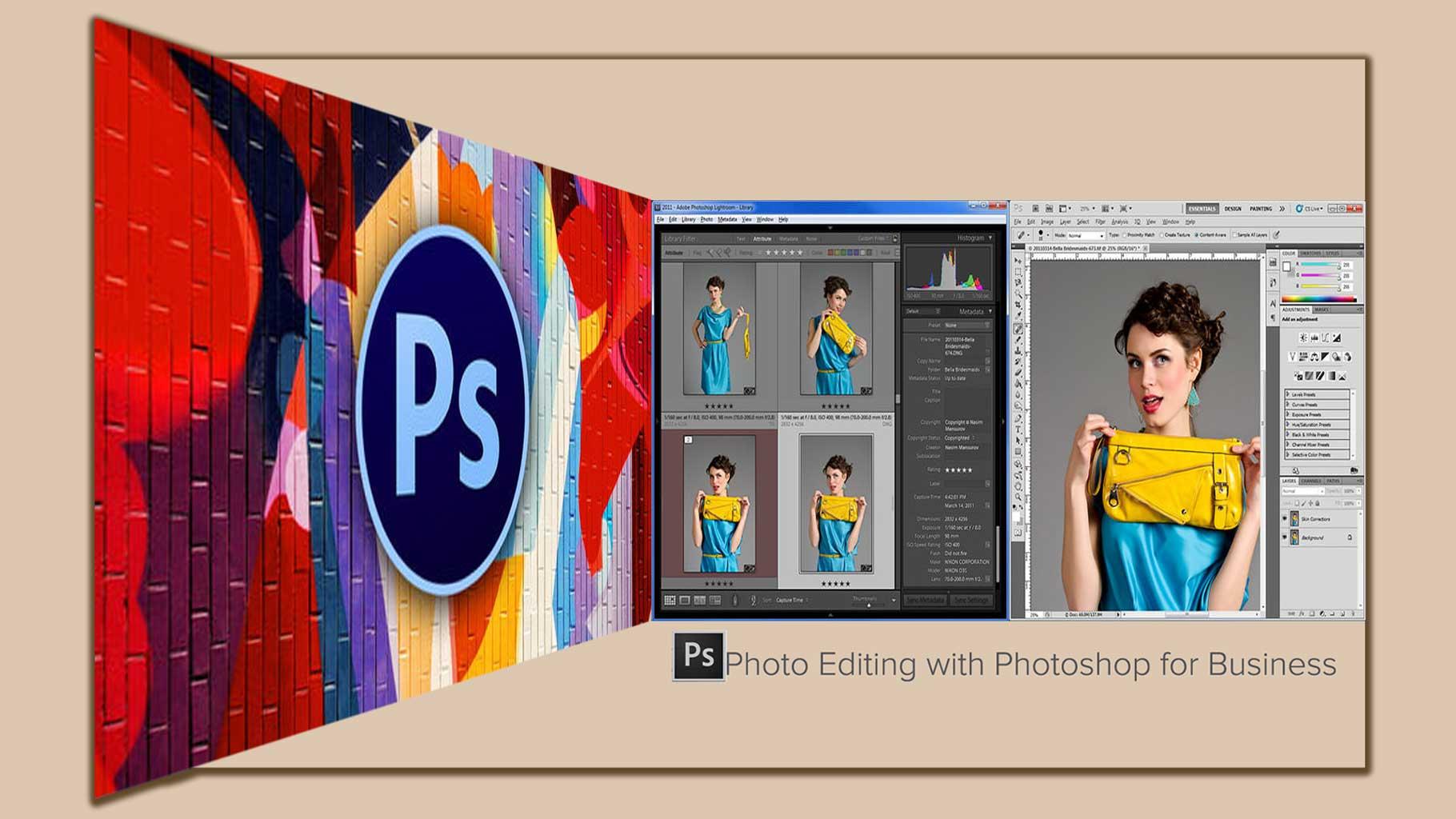 Photo editing  Photoshop 10 - 8 تا از مزایای اصلی ویرایش عکس با فتوشاپ برای کسب و کارتان