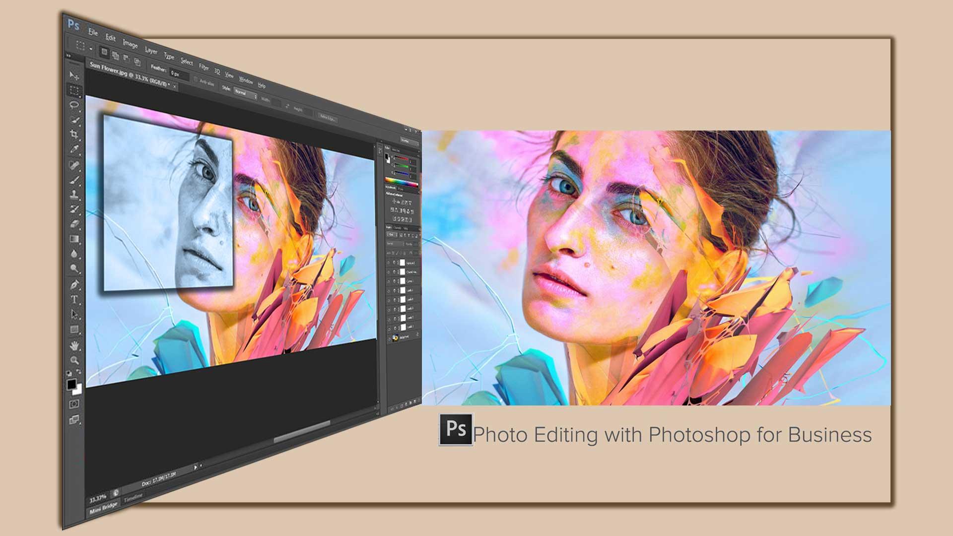Photo editing  Photoshop 3 - 8 تا از مزایای اصلی ویرایش عکس با فتوشاپ برای کسب و کارتان