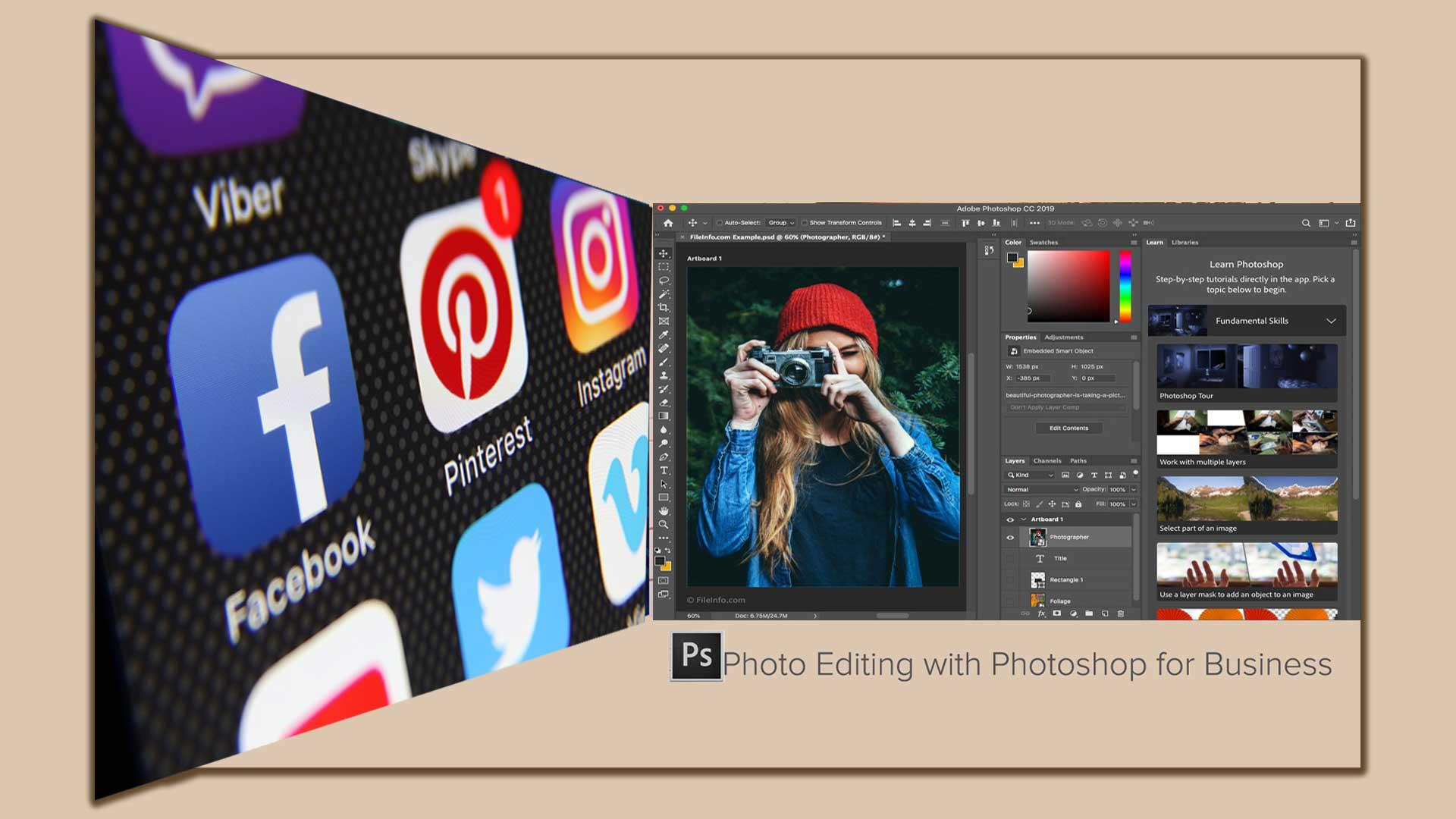 Photo editing  Photoshop 7 - 8 تا از مزایای اصلی ویرایش عکس با فتوشاپ برای کسب و کارتان