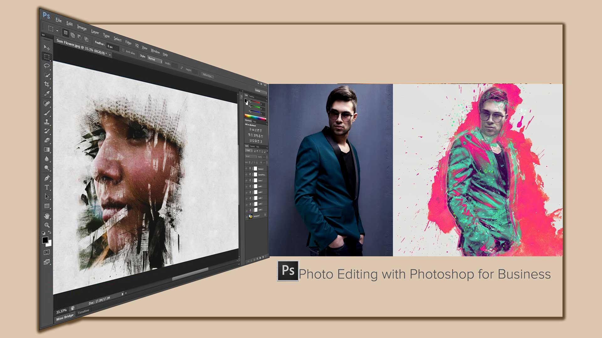 Photo editing  Photoshop 8 - 8 تا از مزایای اصلی ویرایش عکس با فتوشاپ برای کسب و کارتان