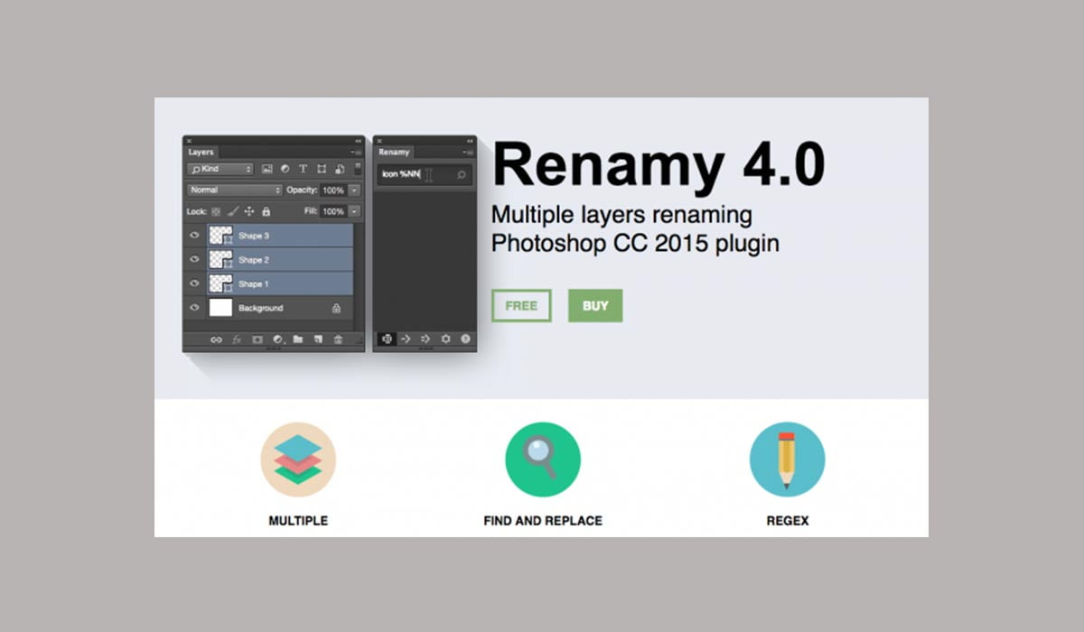 Renamy 4.0 - 38 تا از برترین پلاگین های فتوشاپ