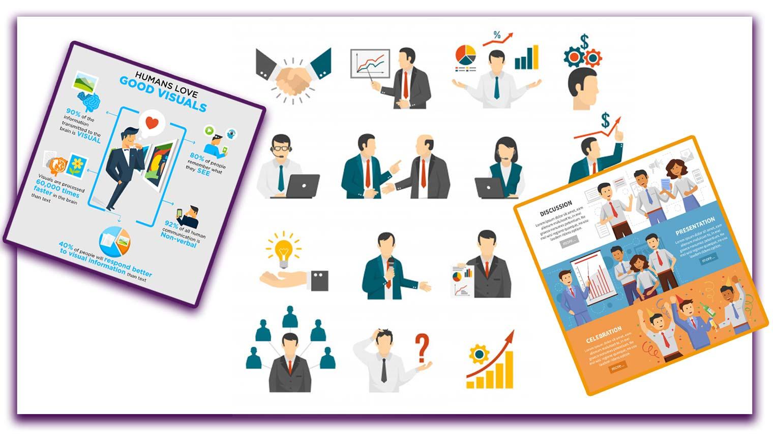 infographic 4 1 - نحوه استفاده از پوسترها، اینفوگرافیک ها،کلاژها و فتومونتاژ در کسب و کارتان