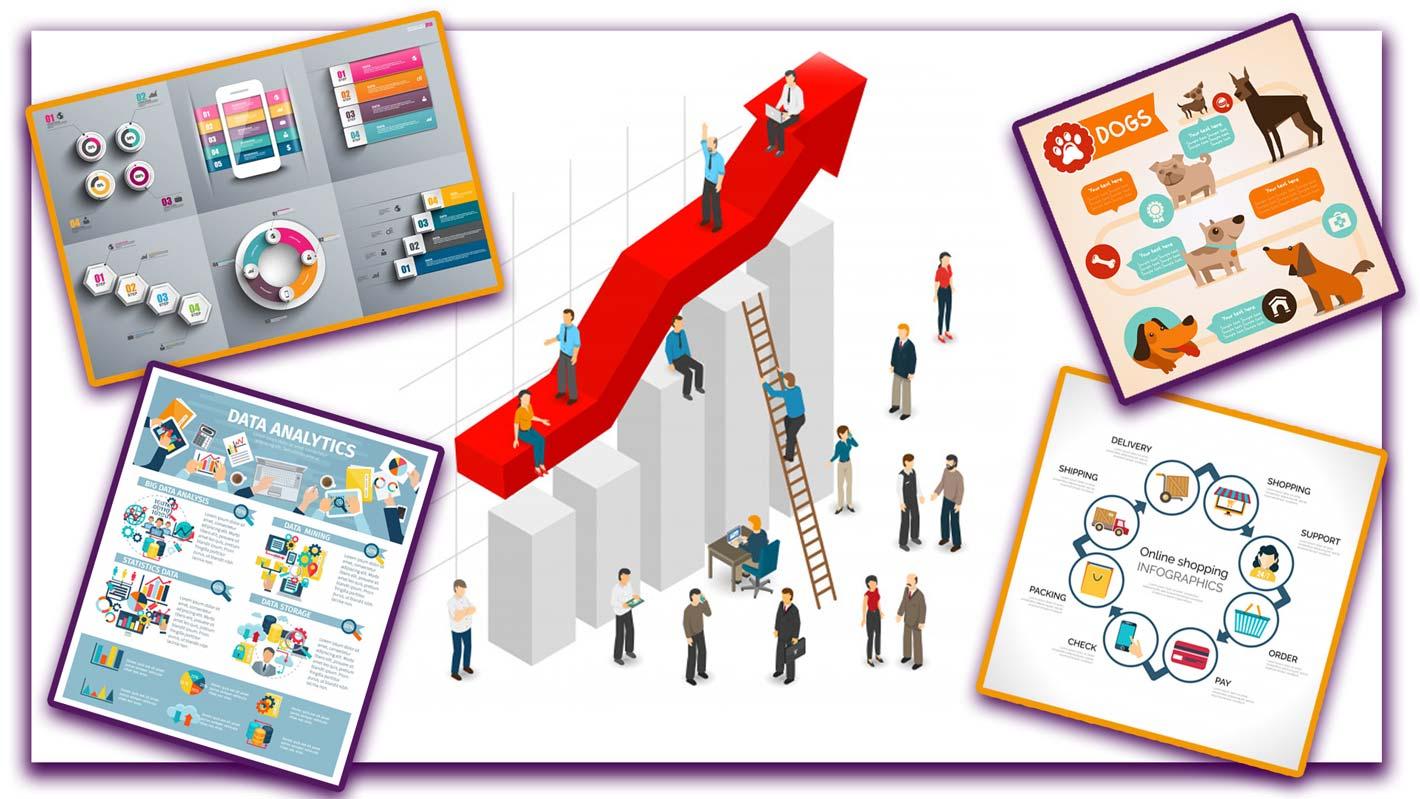 infographic 5 1 - نحوه استفاده از پوسترها، اینفوگرافیک ها،کلاژها و فتومونتاژ در کسب و کارتان